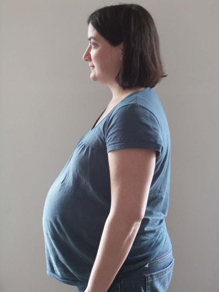 Живот на 39 неделе беременности